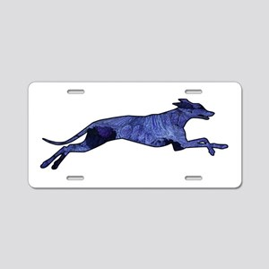 Greyhound Silhouette Fractal Aluminum License Plat