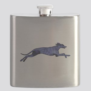 Greyhound Silhouette Fractal Flask