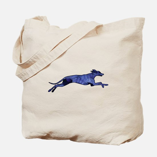 Greyhound Silhouette Fractal Tote Bag