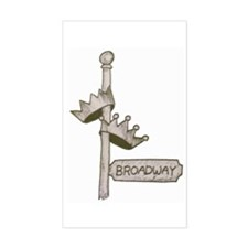 Broadway Signpost Logo Rectangle Sticker