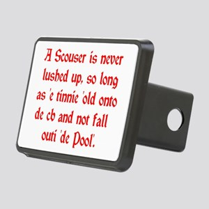 Scouser Lushed Up Red Rectangular Hitch Cover