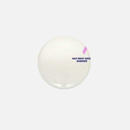 Male Breast Cancer Awareness Mini Button