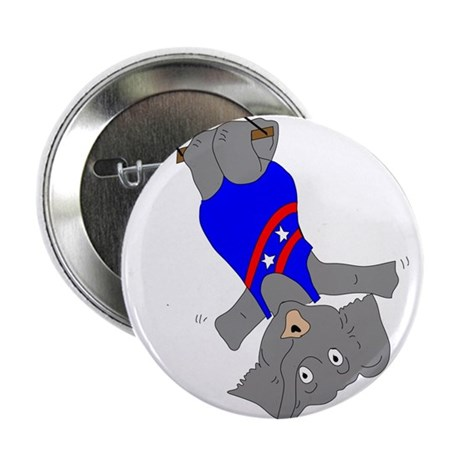 "Circus Elephant on the Trapeze 2.25"" Button"