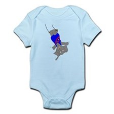 Circus Elephant on the Trapeze Infant Bodysuit