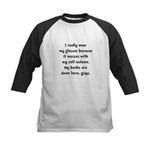 Boobs Self Esteem Kids Baseball Jersey