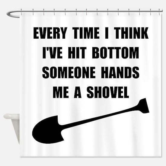 Bottom Shovel Shower Curtain