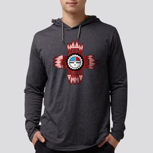 ZUNI SUN FACE ZIA Mens Hooded Shirt