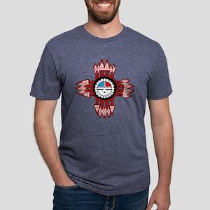 ZUNI SUN FACE ZIA Mens Tri-blend T-Shirt