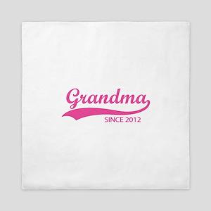 Grandma since 2012 Queen Duvet