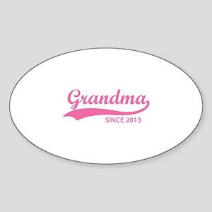 Grandma since 2013 Sticker (Oval)