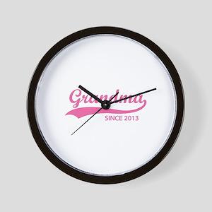 Grandma since 2013 Wall Clock