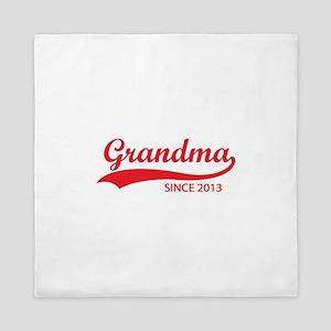 Grandma since 2013 Queen Duvet