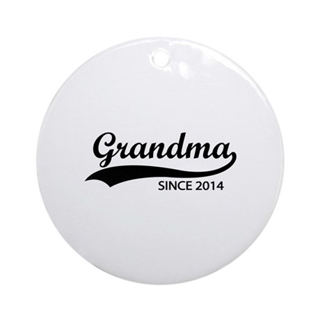 Grandma Since 2014 Ornament Round By Elinesdesigns