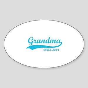 Grandma since 2014 Sticker (Oval)