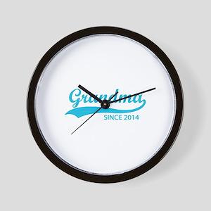 Grandma since 2014 Wall Clock