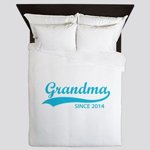 Grandma since 2014 Queen Duvet