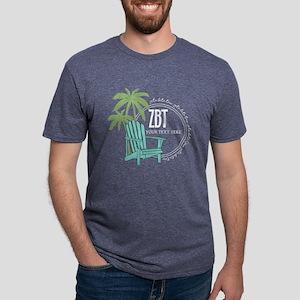 Zeta Beta Tau Beach Chair Mens Tri-blend T-Shirt