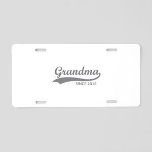 Grandma since 2014 Aluminum License Plate