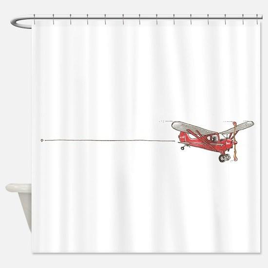 Tailwheels Signature Plane Shower Curtain