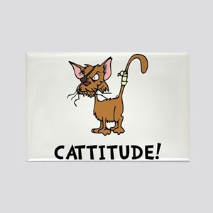 Cattitude Rectangle Magnet (10 pack)