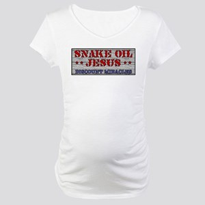 Snake Oil Jesus Maternity T-Shirt