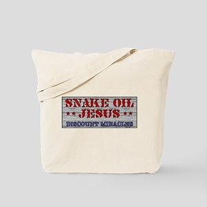 Snake Oil Jesus Tote Bag