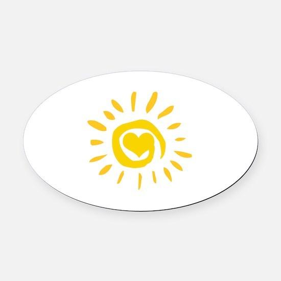 Sun Oval Car Magnet