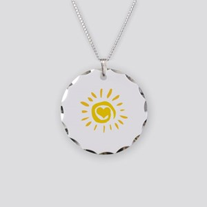 Sun Necklace Circle Charm