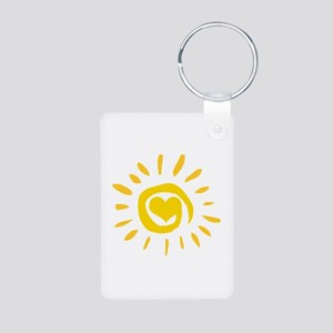 Sun Aluminum Photo Keychain