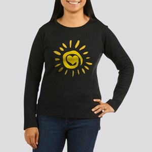 Sun Women's Long Sleeve Dark T-Shirt