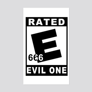 EVIL ONE Sticker (Rectangular)