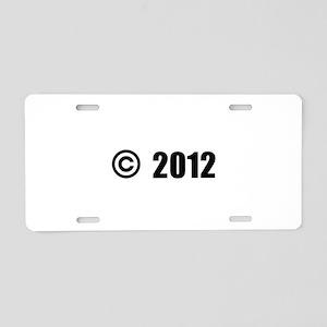 Copyright 2012 Aluminum License Plate