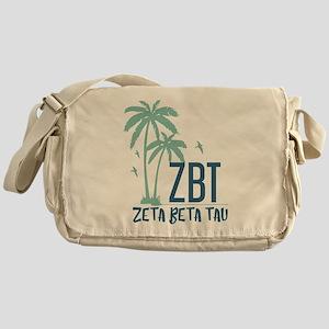 Zeta Beta Tau Palm Tree Messenger Bag