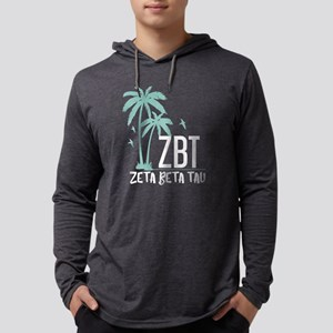 Zeta Beta Tau Palm Tree Mens Hooded Shirt