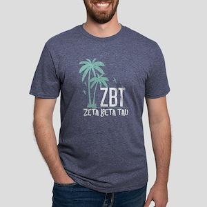 Zeta Beta Tau Palm Tree Mens Tri-blend T-Shirt