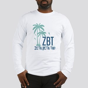 Zeta Beta Tau Palm Tree Long Sleeve T-Shirt