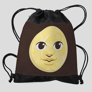 Yellow Moon Emoji Drawstring Bag