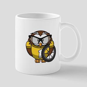Cyclist Owl Mug