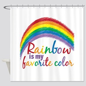 Rainbow Favorite Color Shower Curtain