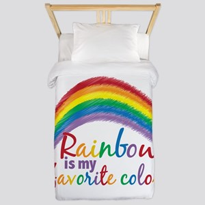 Rainbow Favorite Color Twin Duvet
