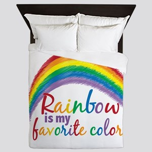 Rainbow Favorite Color Queen Duvet