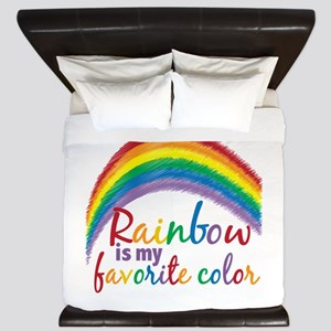 Rainbow Favorite Color King Duvet