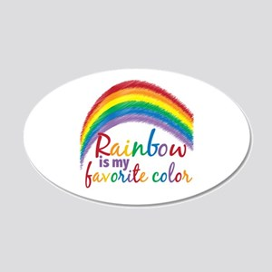 Rainbow Favorite Color 20x12 Oval Wall Decal