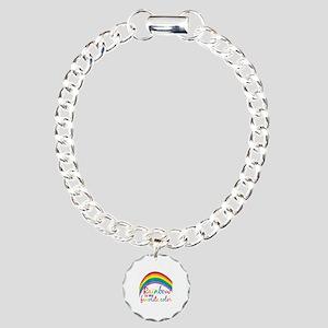 Rainbow Favorite Color Charm Bracelet, One Charm