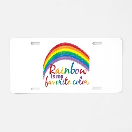 Rainbow Favorite Color Aluminum License Plate