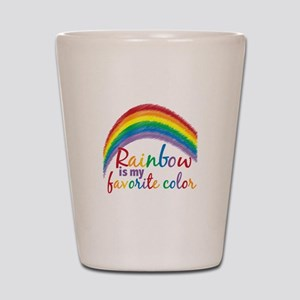 Rainbow Favorite Color Shot Glass