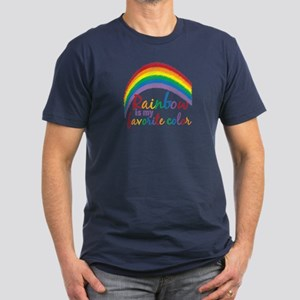 Rainbow Favorite Color Men's Fitted T-Shirt (dark)