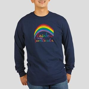 Rainbow Favorite Color Long Sleeve Dark T-Shirt