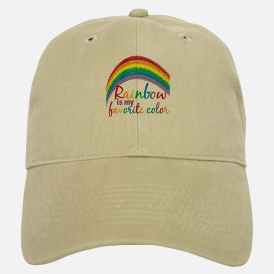 Rainbow Favorite Color Baseball Baseball Cap
