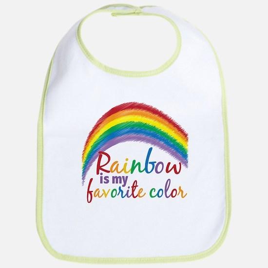Rainbow Favorite Color Bib